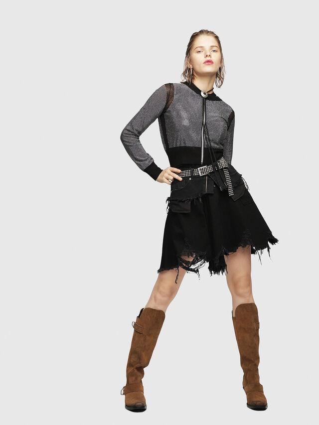 Diesel - M-TWINY, Black - Knitwear - Image 4