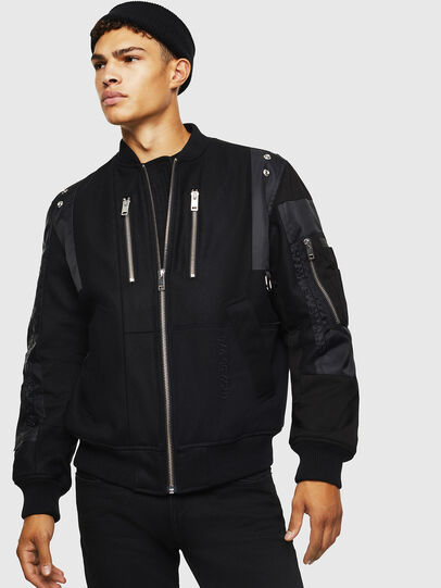 Diesel - W-GARBO, Black - Winter Jackets - Image 1