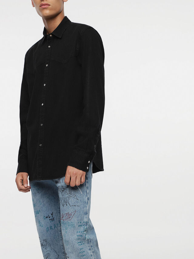 Diesel D-PLANET, Black Jeans - Denim Shirts - Image 4