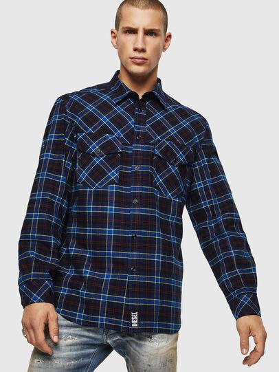 Diesel - S-TOLSTOJ, Blue - Shirts - Image 1