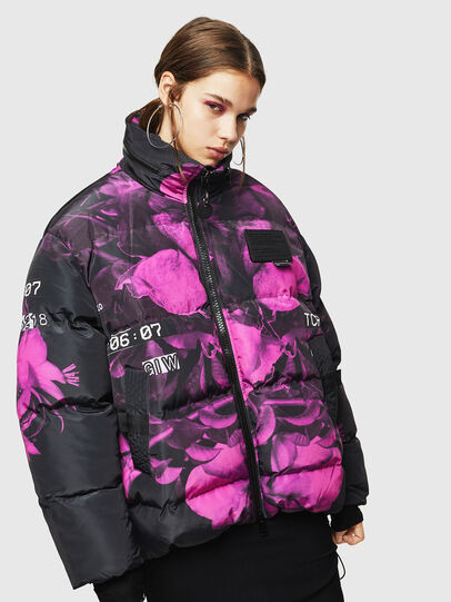 Diesel - W-PIATIGGY, Black/Pink - Winter Jackets - Image 1