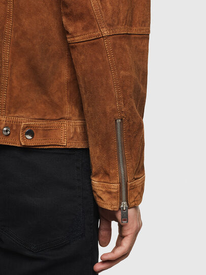 Diesel - L-DEAN, Brown - Leather jackets - Image 5