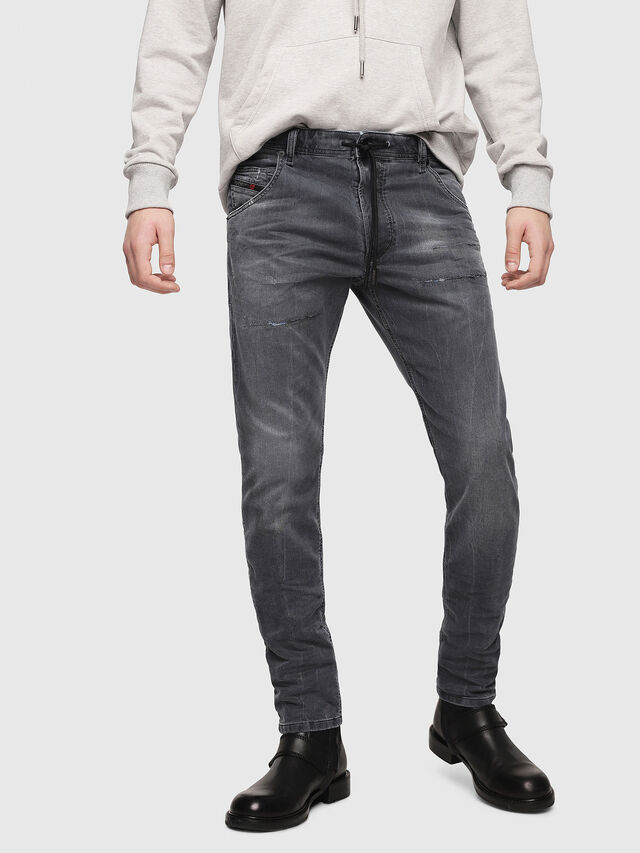 Diesel - Krooley JoggJeans 069EP, Black/Dark grey - Jeans - Image 1