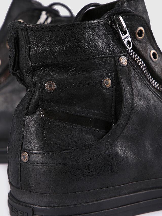 Diesel - EXPO-ZIP, Black Leather - Sneakers - Image 5