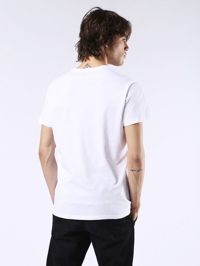 Diesel - T-DIEGO-FO, White/Silver - T-Shirts - Image 2