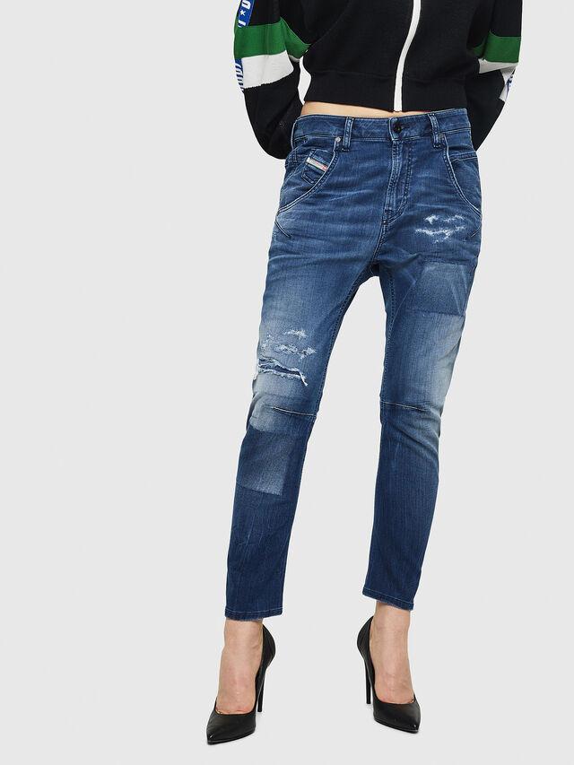 Diesel - Fayza JoggJeans 069HB, Medium blue - Jeans - Image 1
