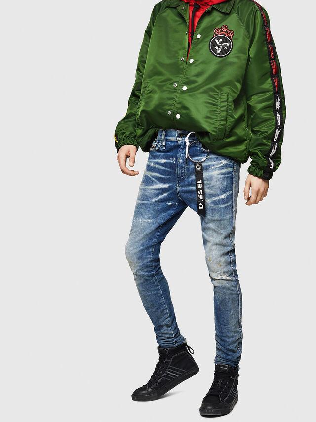 Diesel - D-Reeft JoggJeans 0870Q, Medium blue - Jeans - Image 4
