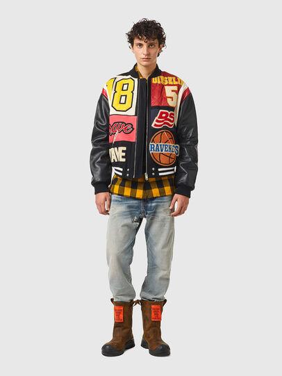 Diesel - L-KEIR, Black/Red - Leather jackets - Image 5