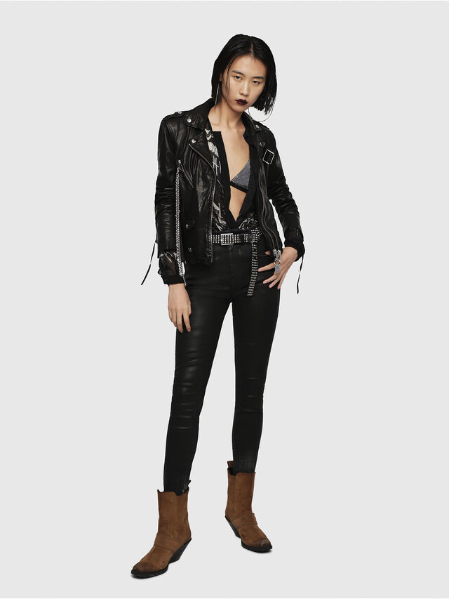 Diesel - L-TERRY-B, Black Leather - Leather jackets - Image 6