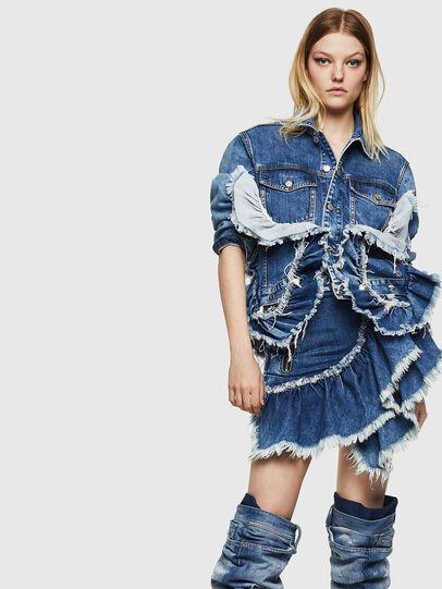 Diesel - DE-AGGIE, Medium blue - Skirts - Image 4