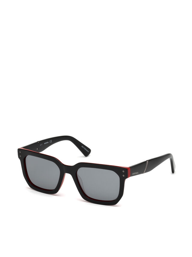 Diesel - DL0253, Black/Red - Eyewear - Image 4