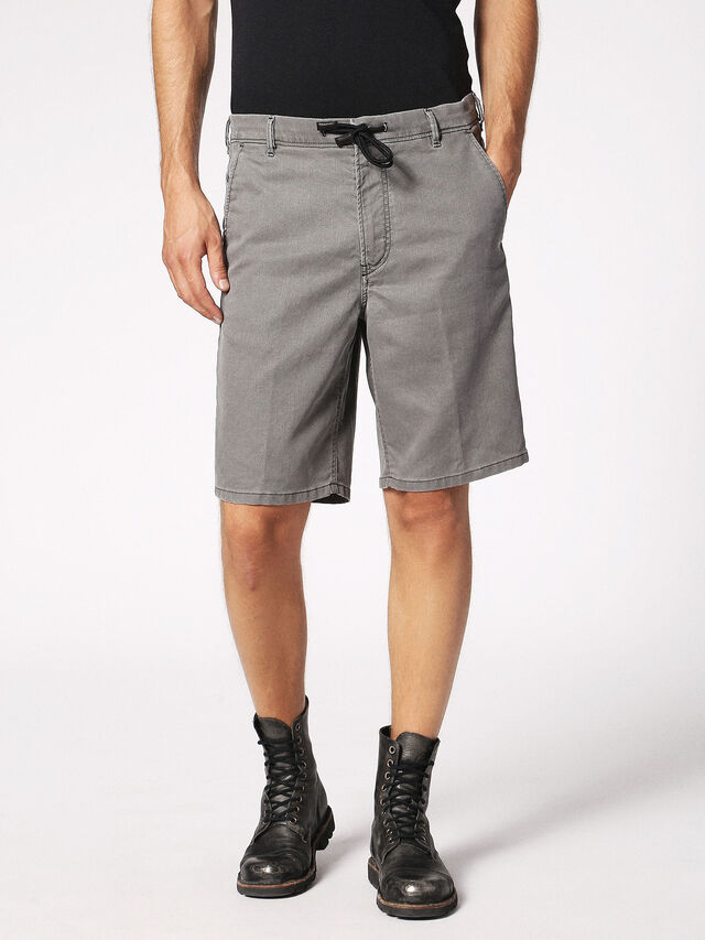 Diesel - CHINO-SHORT JOGGJEANS, Grey - Shorts - Image 1