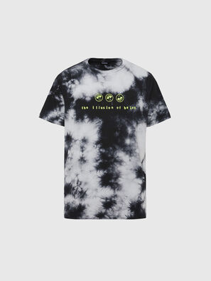 T-JUST-SLITS-X86, Black/White - T-Shirts