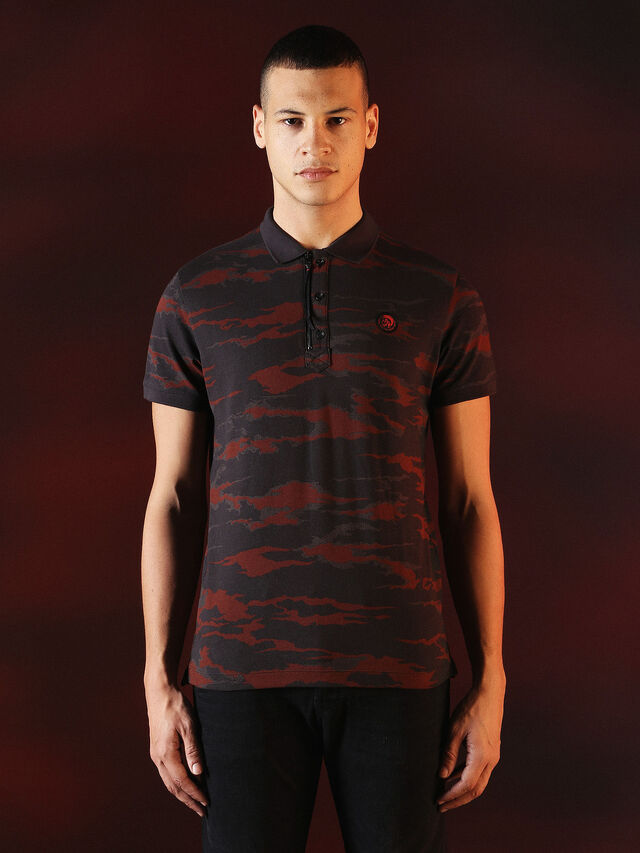 Diesel - DVL-POLO-SPECIAL COLLECTION, Red/Black - Polos - Image 2