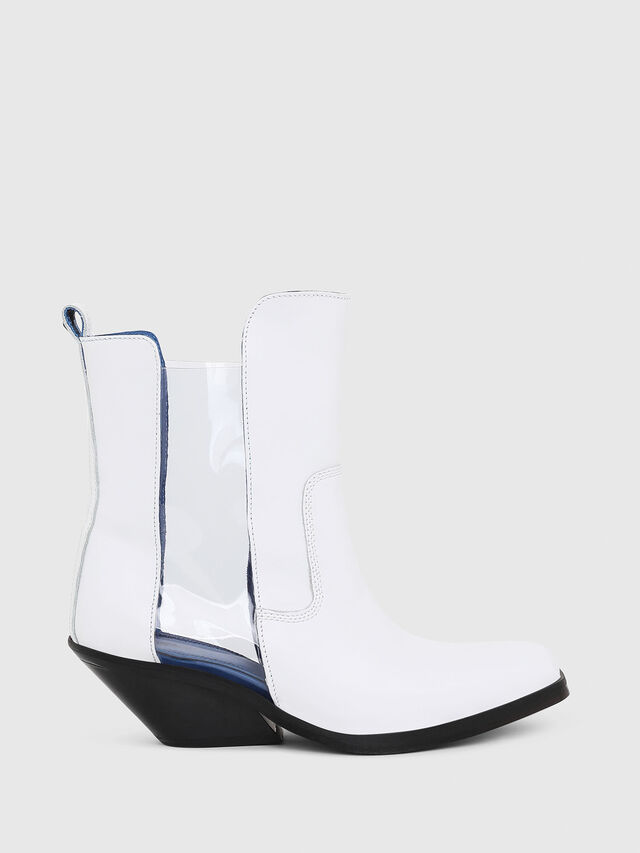 Diesel - D-GIUDECCA MAT, White - Ankle Boots - Image 1