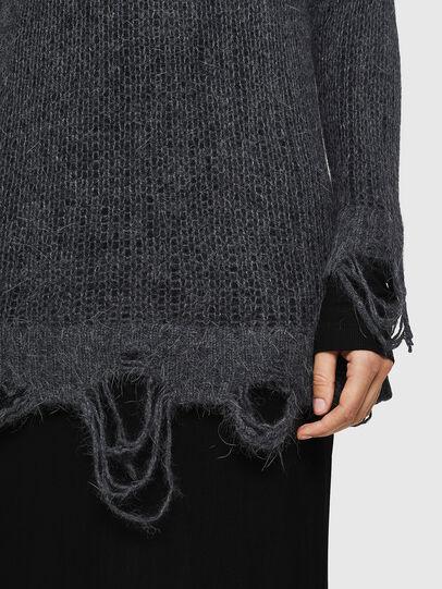 Diesel - M-ANDREA, Grey - Knitwear - Image 5
