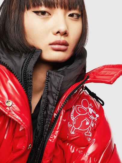 Diesel - CL-W-ALLA-LITM, Red - Winter Jackets - Image 3