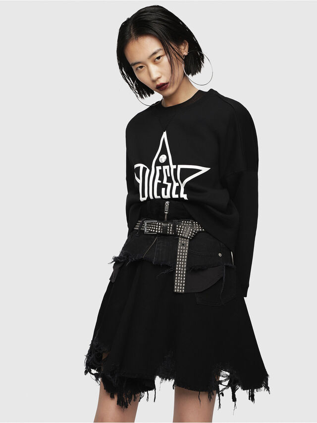 Diesel - F-GERTRUDE-NEW-A, Black - Sweaters - Image 3