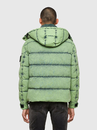 Diesel - W-EVACID, Green Fluo - Winter Jackets - Image 2