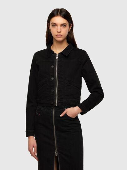 Diesel - DE-BLONDY, Black - Denim Jackets - Image 1