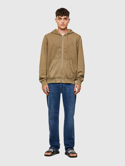 Diesel - S-GIRK-HOOD-ZIP-MOHI, Light Brown - Sweaters - Image 5