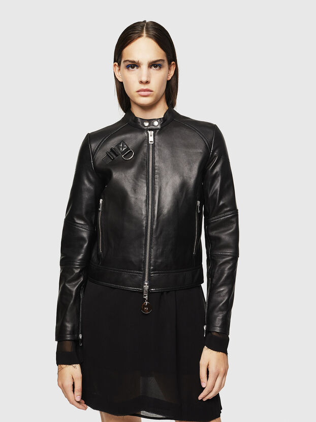 L-SUZA, Black - Leather jackets