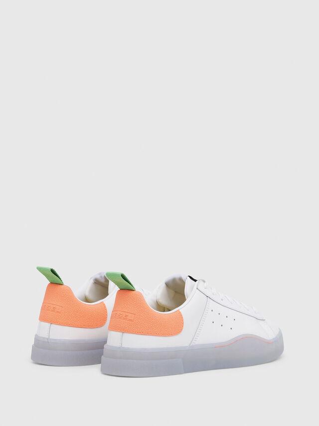 Diesel - S-CLEVER LOW, White/Orange - Sneakers - Image 3