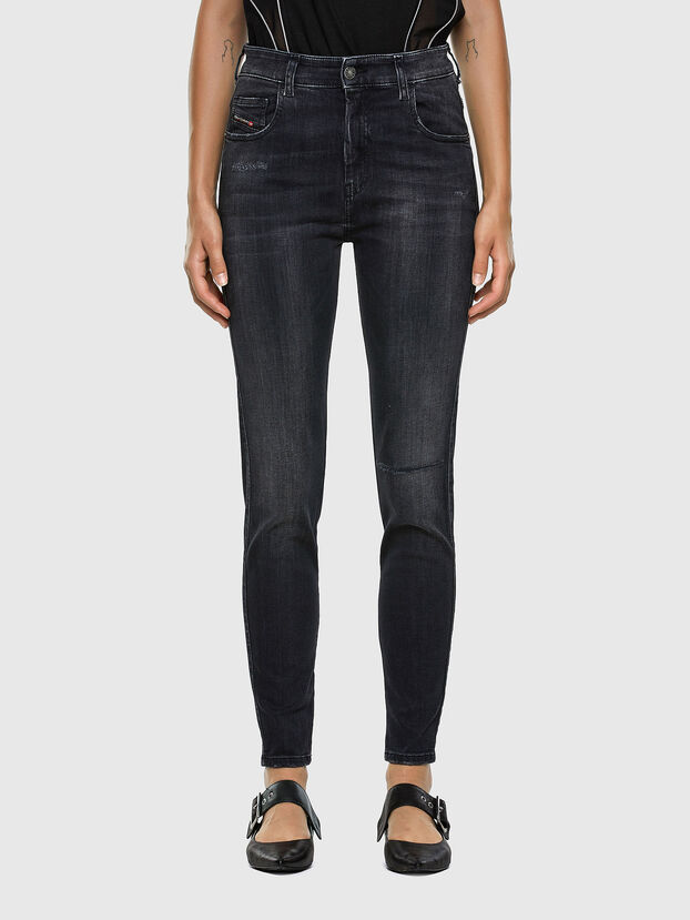 Slandy High 069RL, Black/Dark grey - Jeans