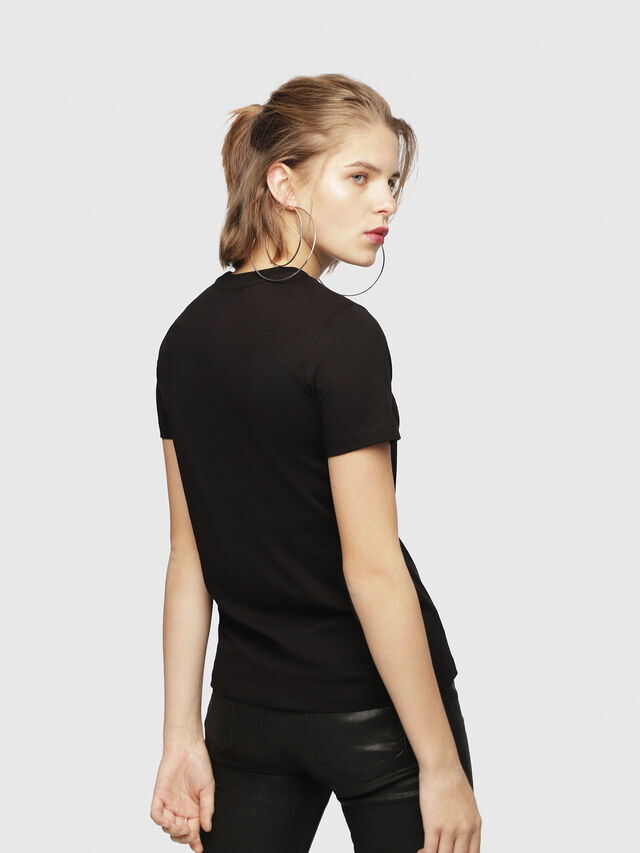 Diesel - T-SILY-WH, Black - T-Shirts - Image 2