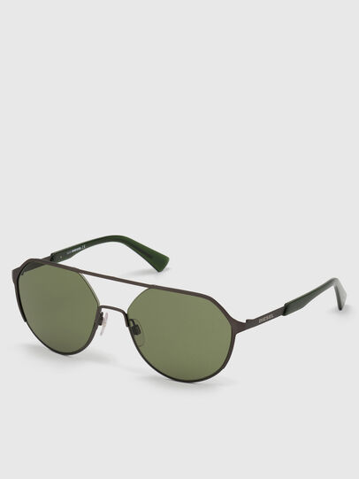 Diesel - DL0324, Black/Green - Sunglasses - Image 2