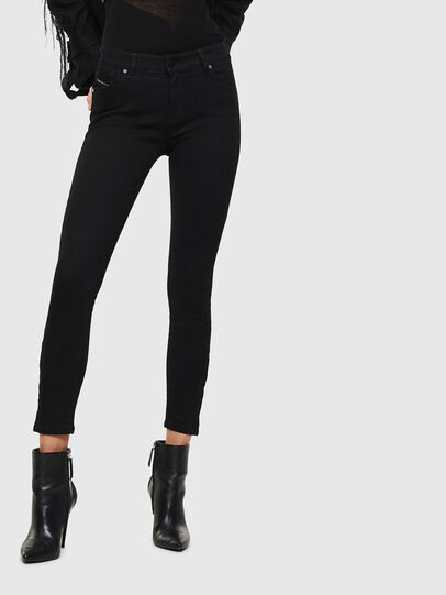 Diesel - Slandy Zip 069EF, Black/Dark grey - Jeans - Image 1