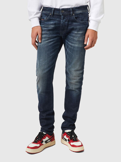 Diesel - Sleenker 069XD, Dark Blue - Jeans - Image 1