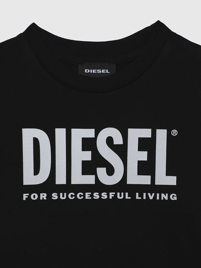 Diesel - TJUSTLOGOB-R, Black - T-shirts and Tops - Image 3