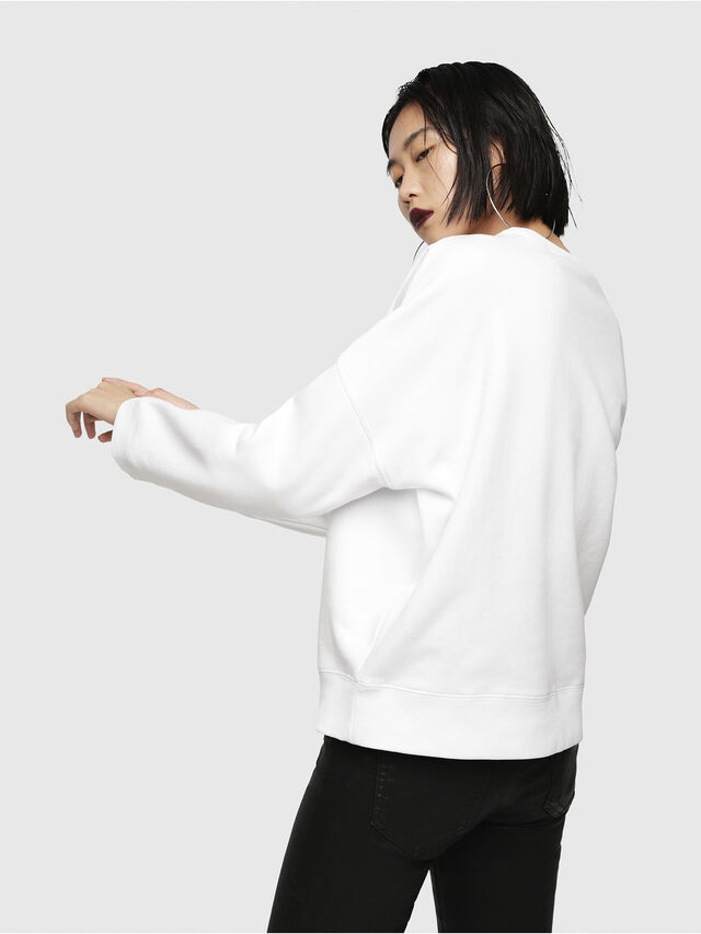 Diesel - F-GERTRUDE-NEW-A, White - Sweaters - Image 2