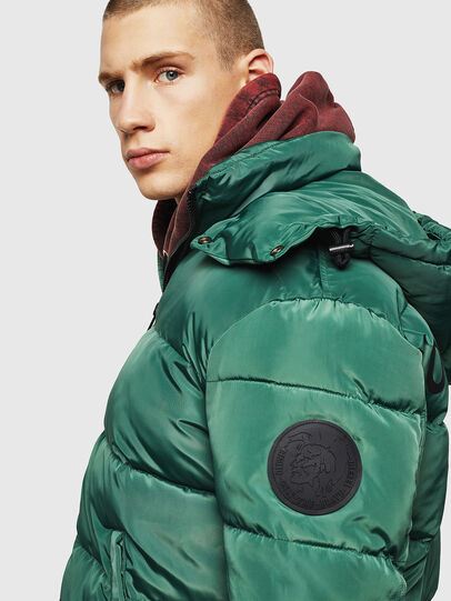Diesel - W-SMITH-YA-WH, Dark Green - Winter Jackets - Image 5
