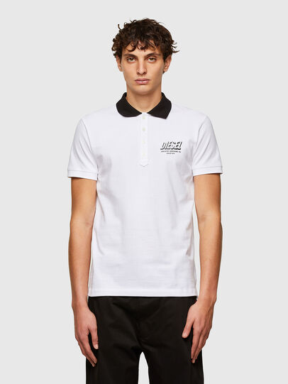 Diesel - T-RANDY-NEW-A1, White - Polos - Image 1