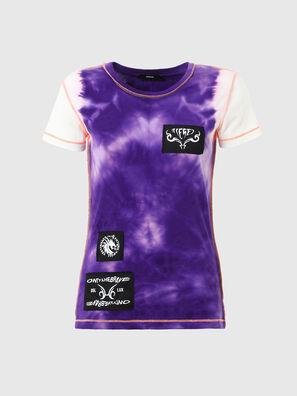 T-SUPERY-V10, White/Violet - T-Shirts