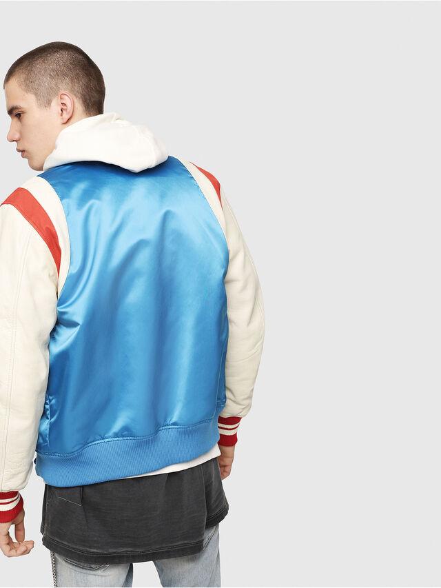 Diesel - L-HARU, White/Red/Blu - Leather jackets - Image 2