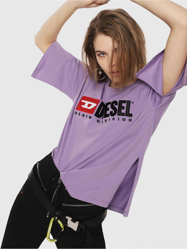 Diesel - T-JACKY-D, Lilac - T-Shirts - Image 3