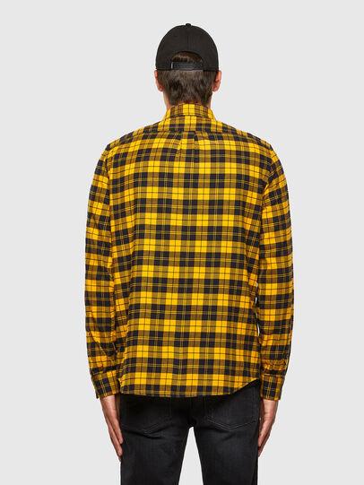 Diesel - S-MOI-CHK, Black/Yellow - Shirts - Image 2