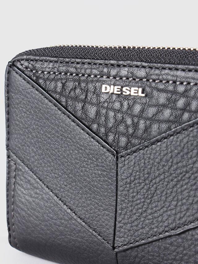 Diesel JADDAA, Black Leather - Small Wallets - Image 3