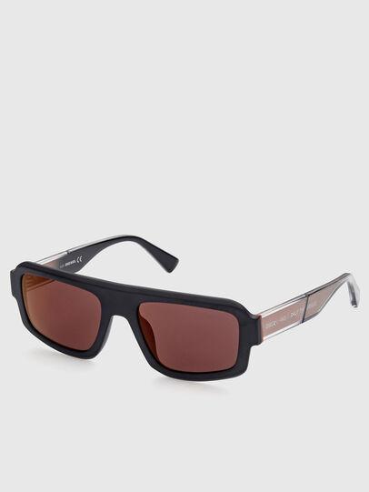 Diesel - DL0348, Black/Red - Sunglasses - Image 2