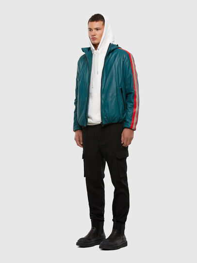 Diesel - L-MATHIAS, Water Green - Leather jackets - Image 7