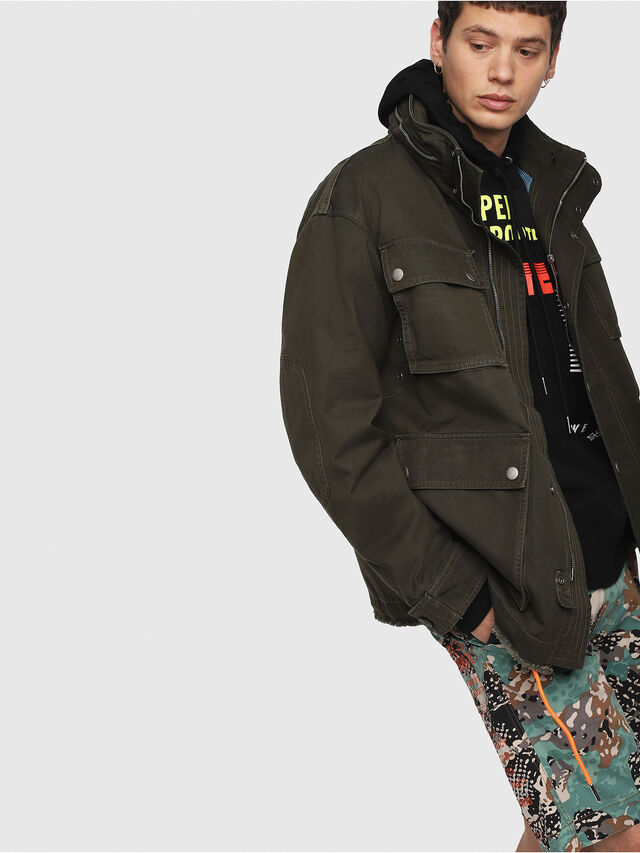 Diesel - J-TOUCHA, Military Green - Jackets - Image 3