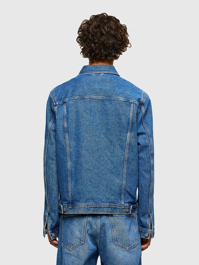 Diesel - NHILL-C1, Medium blue - Denim Jackets - Image 3