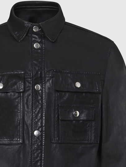 Diesel - L-MALIK, Black - Leather jackets - Image 4