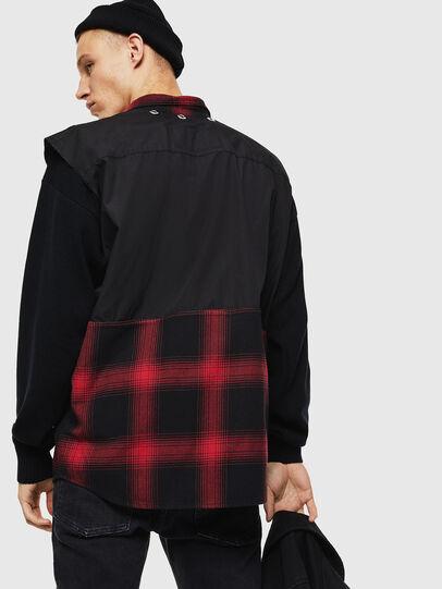 Diesel - D-WELLES, Black/Red - Denim Shirts - Image 6