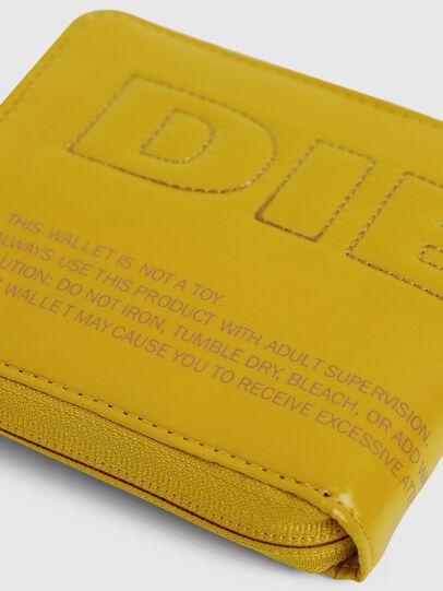 Diesel - ZIPPY HIRESH S, Yellow - Zip-Round Wallets - Image 4