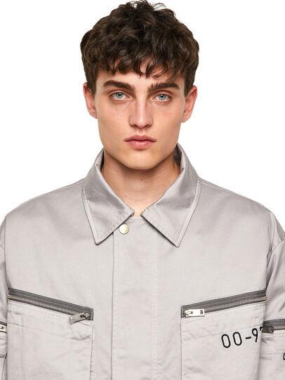 Diesel - J-THOMPSON-A, Light Grey - Jackets - Image 5