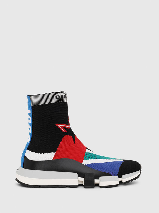 Diesel - H-PADOLA HIGH SOCK, Multicolor - Sneakers - Image 1